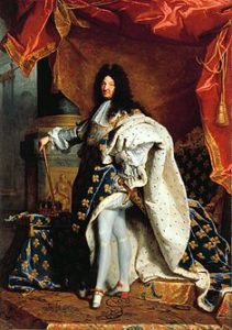 Lavishly dressed King Louis XIV